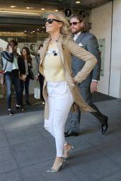 Kate Upton Street Fashion - at BBC Radio 1 in London, April 2015