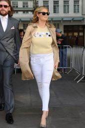 Kate Upton Street Fashion - at BBC Radio 1 in London, April 2015