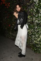 Katharine McPhee Night Out Style - Leaving Chateau Marmont in West Hollywood, April 2015