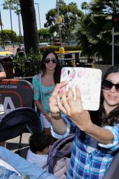 Katharine McPhee - On the Set of Extra in Universal City, April 2015