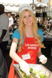 Katherine McNamara at Los Angeles Mission Easter Event 2015