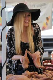 Katherine McNamara - Farmers Market in Studio City, April 2015