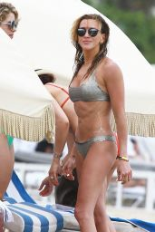 Katie Cassidy & Emily Bett Rickards Bikini  Candids - at a Beach in Miami, April 2015