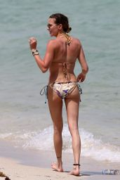 Katie Cassidy Hot in a Bikini - Beach in Miami Part II, April 2015