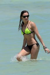 Katie Cassidy in a Bikini at a Beach in Miami - April 2015