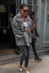 Kelly Brook Style - Leaving Her Hotel in London, April 2015