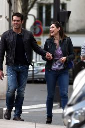 Kelly Brook With French Beau Jeremy Parisis - Out in Paris, April 2015