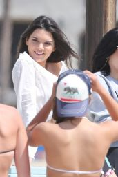 Kendall & Kylie Jenner - On Set of a Photoshoot in Malibu, April 2015
