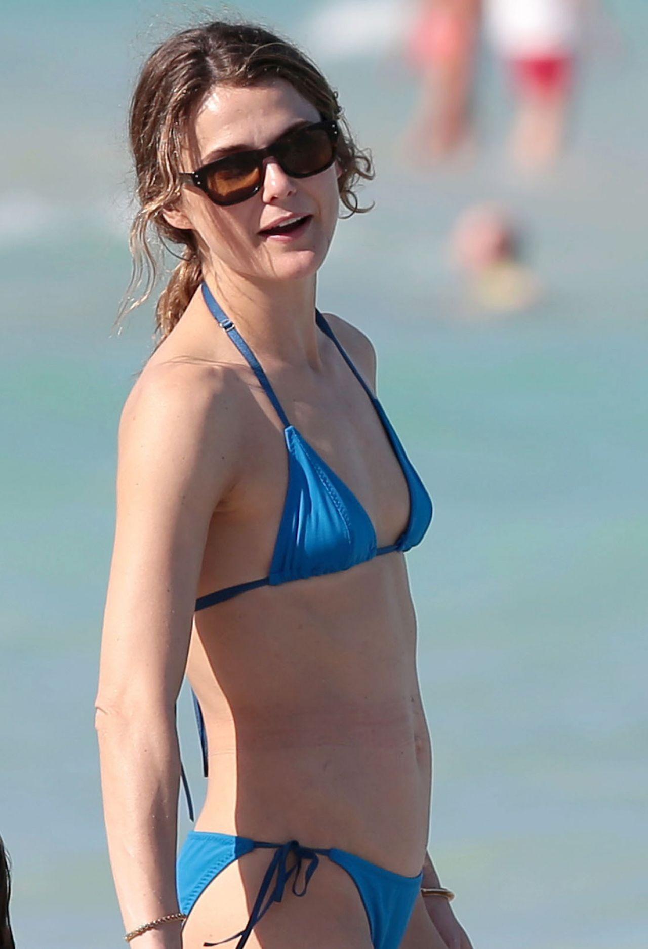 Keri Russell Bikini Candids At A Beach In Miami April 2015