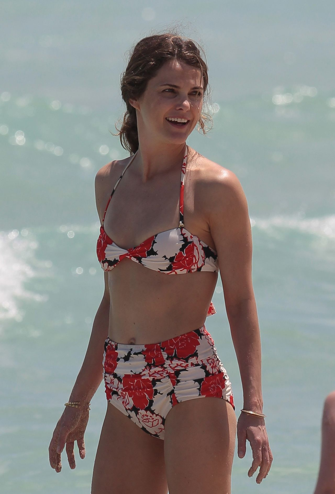 Keri Russell In A Bikini At A Beach In Miami April 2015