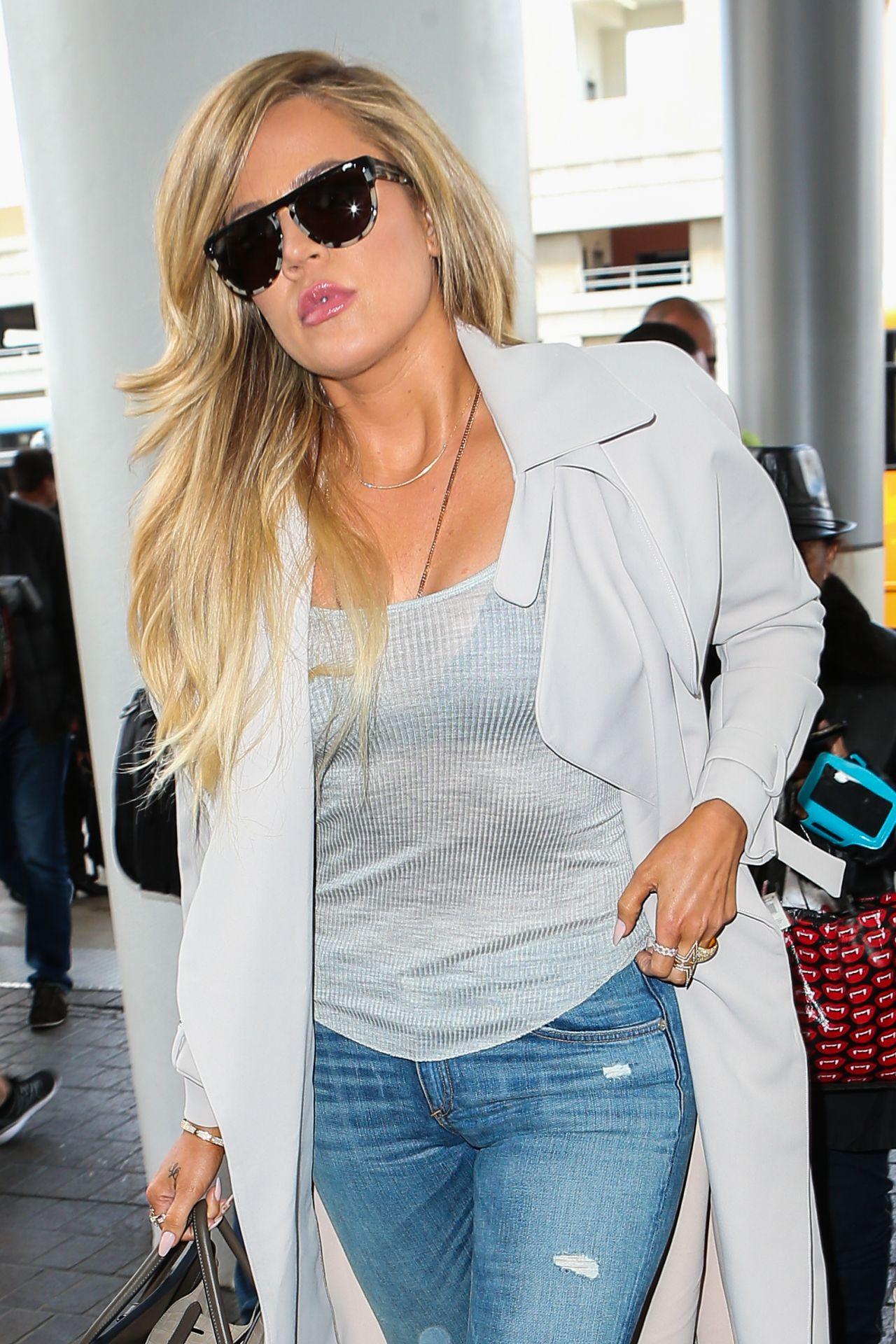 Khloe Kardashian - LAX Airport in LA, April 2015