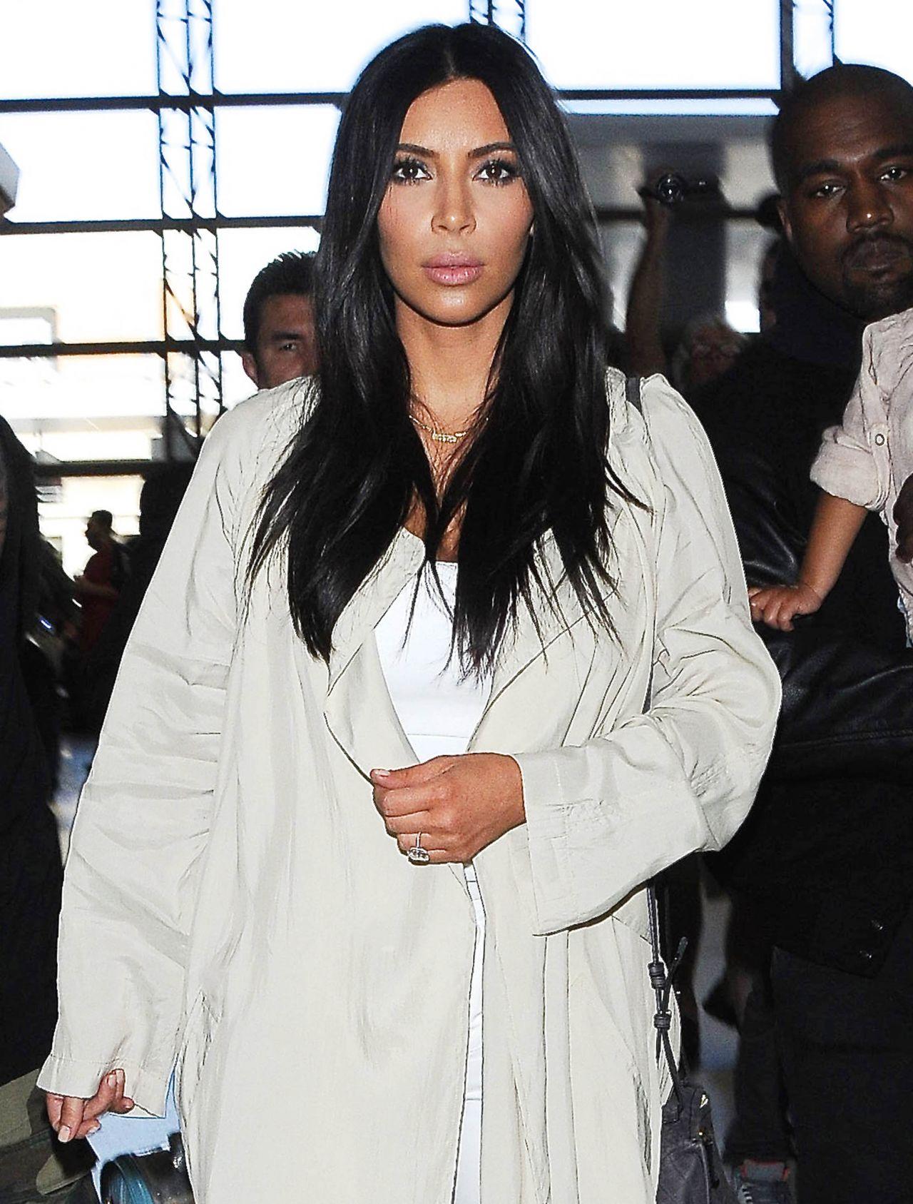 Kim Kardashian at LAX Airport in Los Angeles, April 2015