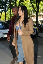 Kim Kardashian at Montaigne Market and at the COSTES Restaurant in Paris - April 2015