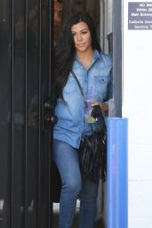 Kourtney Kardashian in Jeans - Out in LA, April 2015