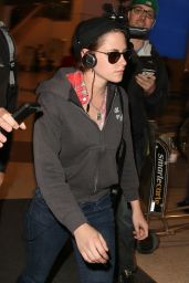 Kristen Stewart - LAX Airport, April 2015