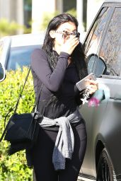 Kylie Jenner in Leggings - Out in Calabasas, April 2015