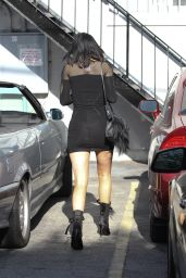Kylie Jenner Leggy in Mini Dress - Out in Los Angeles, April 2015