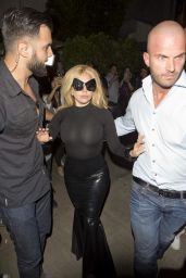 Lady Gaga Style - Leaving Pump Restaurant in West Hollywood - April 2015