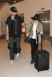 Lea Michele at LAX Airport, April 2015