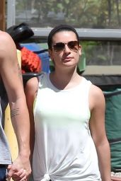 Lea Michele - Hiking in Los Angeles, April 2015