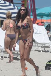 Lilly Becker in a Bikini on the Beach in Miami, April 2015