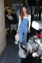 Lily Aldridge at LAX Airport, April 2015