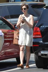 Lily Collins Casual Style - Out in West Hollywood, April 2015
