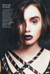Lily Collins - Glamour Magazine (UK) May 2015 Issue