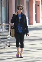 Lily Collins Going to the Gym in West Hollywood, April 2015