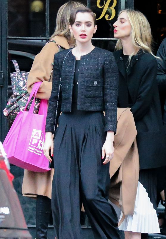 Lily Collins Leaving a Hotel in New York City, March 2015