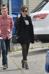 Lily Collins - Out With Her Mom in Los Angeles, April 2015