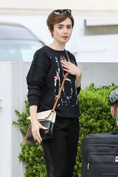 Lily Collins - Shopping in Beverly Hills, April 2015