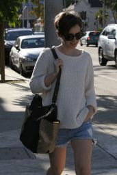 Lily Collins - Shopping in West Hollywood, April 2015