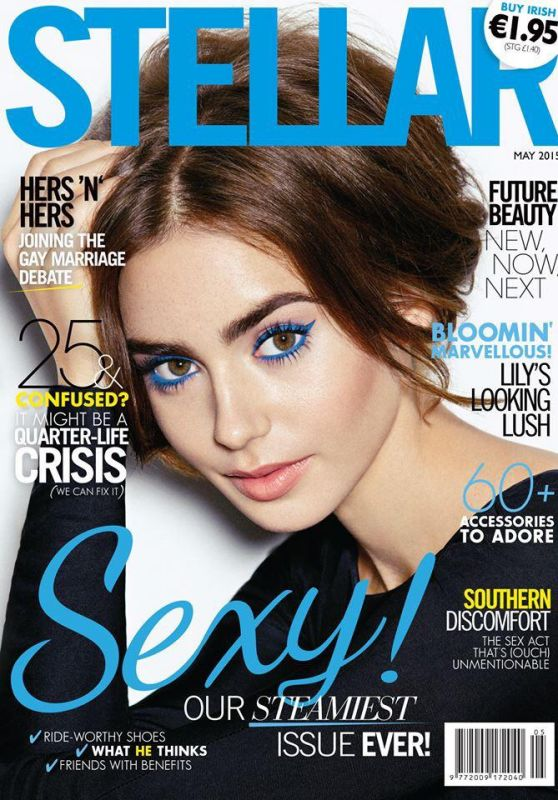 Lily Collins - Stellar Magazine (Indonesia) May 2015 Cover and Photo