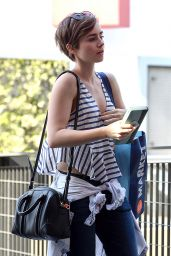 Lily Collins Street Style - Out in LA, April 2015