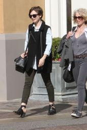 Lily Collins Style - Shopping in Hollywood, April 2015