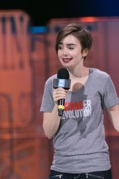 Lily Collins - We Day Event in Seattle, April 2015