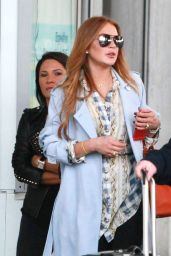 Lindsay Lohan - Arriving at Nice Airport - April 2015