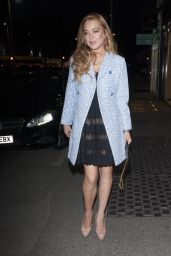 Lindsay Lohan Night Out Style - London, April 2015