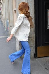 Lindsay Lohan Style - Shopping in Milan, Italy, April 2015