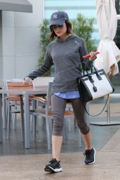 Lucy Hale - Leaving Gym in West Hollywood, April 2015