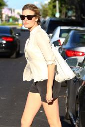 Maggie Grace Leggy in Shorts - Out in West Hollywood, April 2015