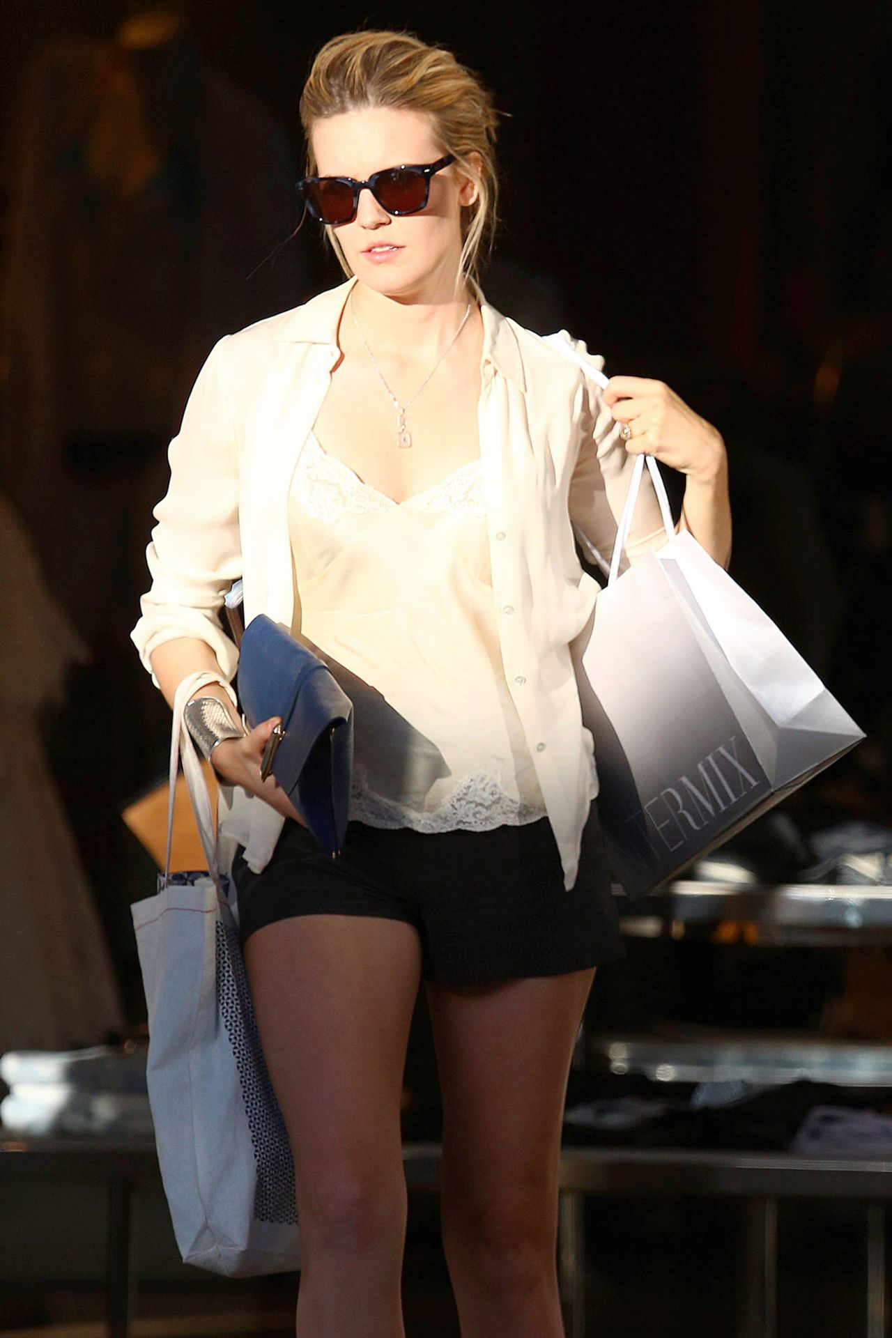 Maggie Grace Leggy In Shorts Out In West Hollywood