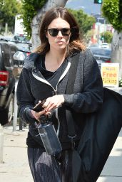 Mandy Moore - Leaving Her Yoga Class in Los Angeles, April 2015