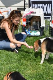 Maria Menounos - Beagle Freedom Project in Valley Village, April 2015