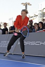 Maria Sharapova Show Match Day 2 of Porsche Grand Prix 2015 in Stuttgart