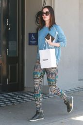 Megan Fox in Leggings - Leaving the Benjamin Salon in West Hollywood, April 2015