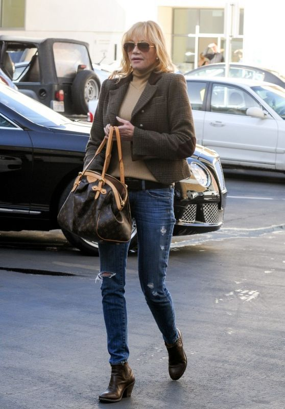Melanie Griffith in Jeans - Out in Beverly Hills, April 2015