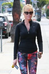 Melanie Griffith in Tights - Out in LA, April 2015