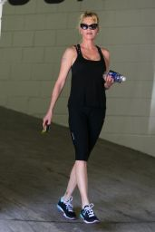 Melanie Griffith - Leaving a Gym in Los Angeles, April 2015